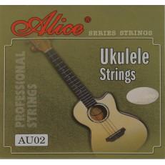 Комплект струн для укулеле, черный нейлон [20] Alice
