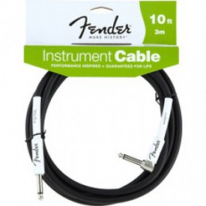 FENDER 10 ANGLE INSTRUMENT CABLE BLACK